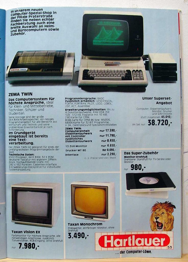 Computer Prospekt aus 1984 4