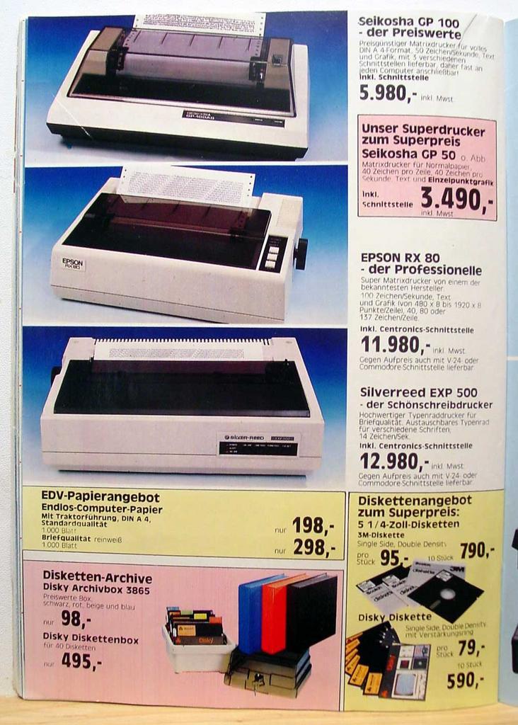 Computer Prospekt aus 1984 5