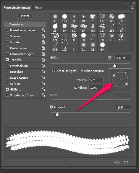 Pinsel drehen in Photoshop 1