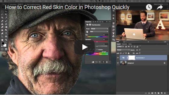 Rottöne aus Gesicht entfernen mit Photoshop 2