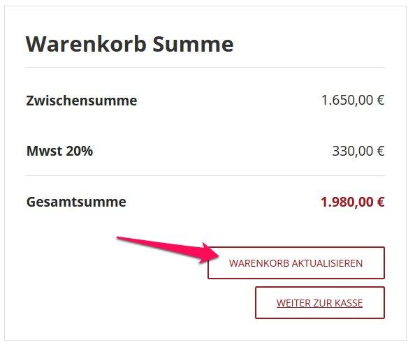WooCommerce automatisch Warenkorb aktualisieren 1
