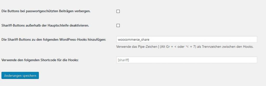 WooCommerce Teilen Button unter Kurzbeschreibung 1