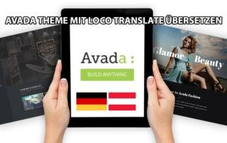 Avada Theme Übersetzen mit Loco Translate 2