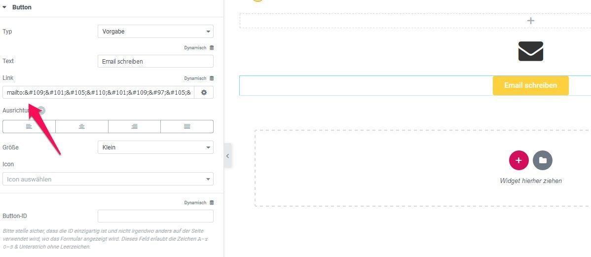 In Elementor die Email Adresse verschlüsseln 2