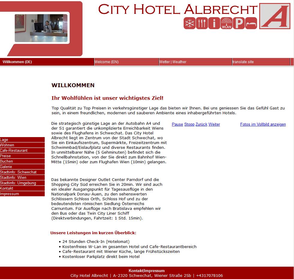 cityhotelalbrecht.at 2